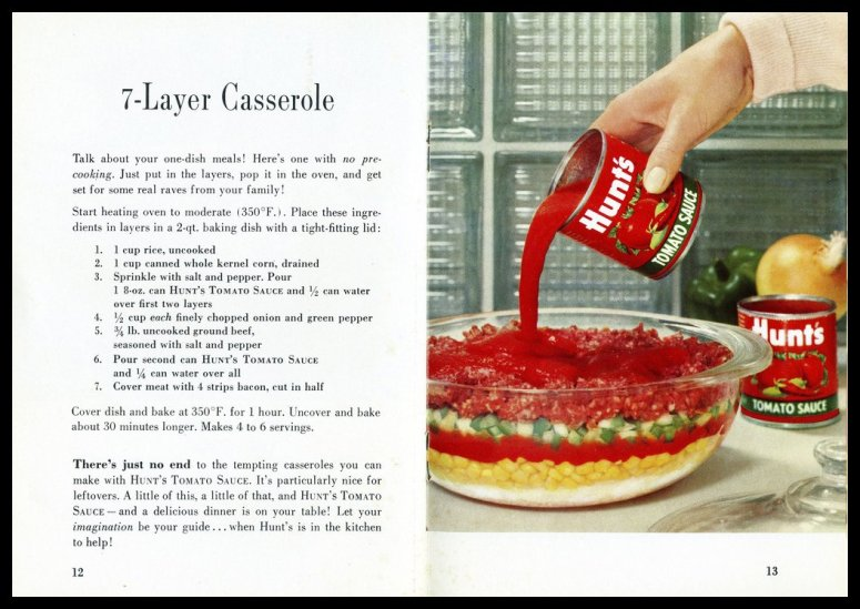 Hunts 7 Layer Casserole Circa 1950 S Vs Mccallum Vintage